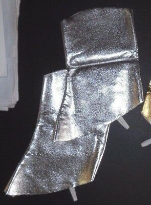 NEW Metallic Boot Spats  Silver Dance Theatrical Cowboy Soldier children