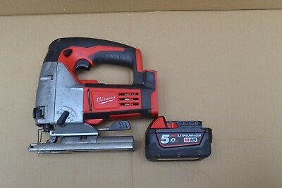 Milwaukee 18V Li-Ion Cordless Jigsaw Body Only and 18V Battery(5 Ah)