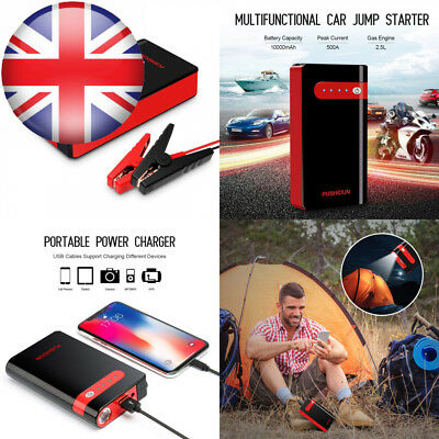 PUSHIDUN Jump Starter 10000mAh 500A Peak Car Battery Booster Pack Start 12V...