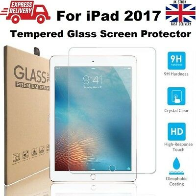 New Scratch Proof Ultra Slim Tempered Glass Protector for iPad 2017 A1822/A1823