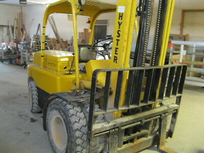 """Hyster H80 8000LBS Gas Forklift Pneumatic Tires 72"""" Forks Dual Wheel Heavy Duty"""