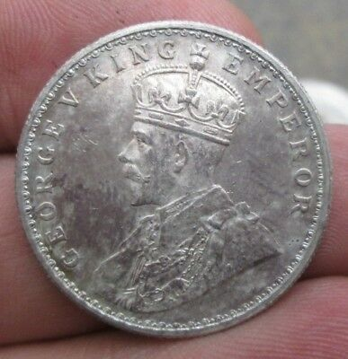 1915 British India King George V One Rupee Silver Coin Nice Condition No Reserve