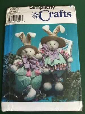 SIMPLICITY RABBIT BUNNY Clothes 1996 Craft Sewing Pattern No 7020 ...