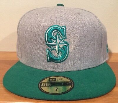 buy popular dbb2a 0c8f0 Seattle Mariners New Era 59FIFTY Fitted Hat Size 7