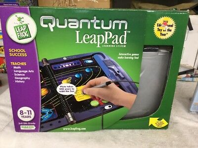 LeapFrog Quantum Leap Pad Learning System 8-11 Yrs 3rd-5th Grade Educational