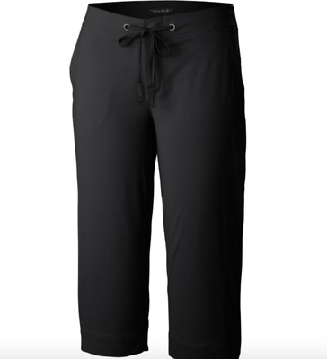 NWT Columbia Women's Plus Size Anytime Outdoor Capri Pants Black 22W inseam 18""