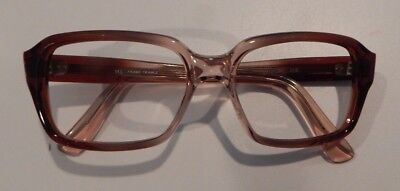 """Vintage White Haines Opt. """"More"""" Brown Fade 48/22 Eyeglass Frame NOS #264"""