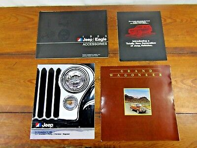 Lot of 4 Jeep/Eagle Sales Brochures from early 1980s