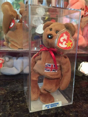 MWMT-MQ INDONESIAN Patch Flag Britannia Teddy UK Bear PVC 1st Gen Ty Beanie Baby