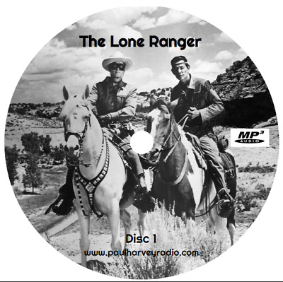 Lone Ranger (1,044 Shows) Old Time Radio Mp3 10 Cd's