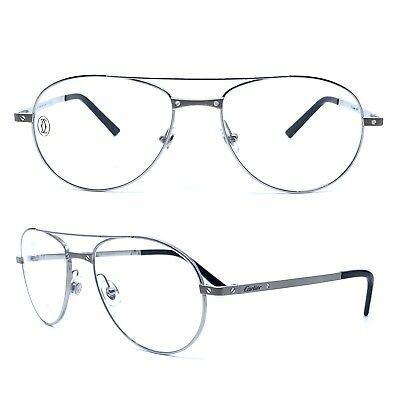 a3893c6d8c4 Occhiali Cartier Santos Titane T8101040 Frame Eyewear New And 100% Authentic
