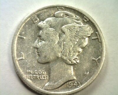 1943-S MERCURY DIME ABOUT UNCIRCULATED AU NICE ORIGINAL COIN FAST 99c SHIPMENT