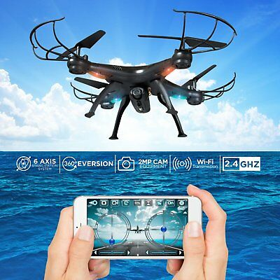 x5s RC Quadcopter with WIFI FPV HD Camera 4CH 2.4GHz 6 Axis Drone Blue UAV Explo