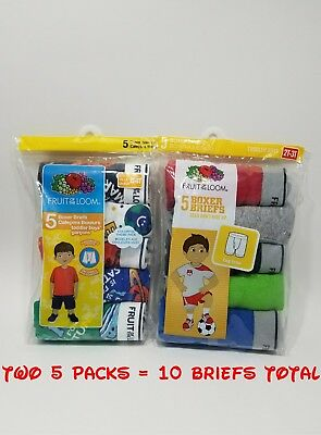 Toddler Boy Fruit of the Loom Lot of 2 5 Pack 10 Pair Boxer Brief 2T  3T NIP