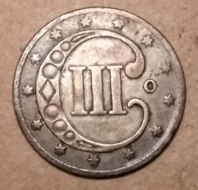 RARE 1851 O Three Cent Piece Silver Trime 3c ~ HIGH GRADE - FULL DATE & RIMS ~