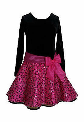 BLOOME® Girls Plus 14.5 White Pink /& Navy Print Dress NWT $68