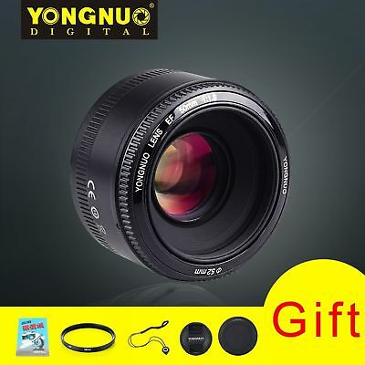 YONGNUO YN50MM F/1.8 Large Aperture Auto Focus Lens For Canon Camera + Gifts