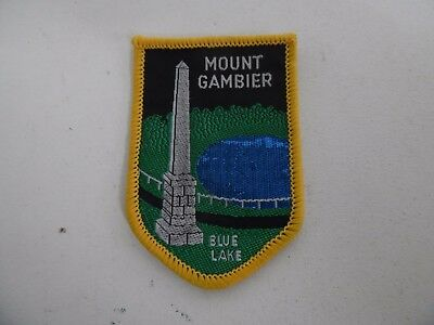 Woven Badge Mount Gambier  Blue Lake
