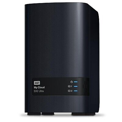 "WD My Cloud EX2 Ultra 20TB 2 Bay 3.5"" Personal Cloud NAS Storage WDBVBZ0200JCH"