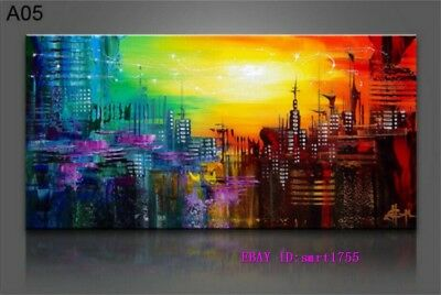 Modern Abstract hand-painted Art Oil Painting Wall Decor canvas 24x48   #60