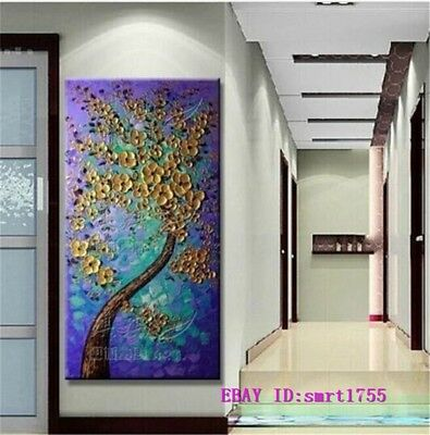 Modern Abstract hand-painted Art Oil Painting Wall Decor canvas 24x48   #20