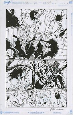 SUPERIOR SPIDER-MAN #24 Page 4 Original Art by HUMBERTO RAMOS/OLAZABA 2014