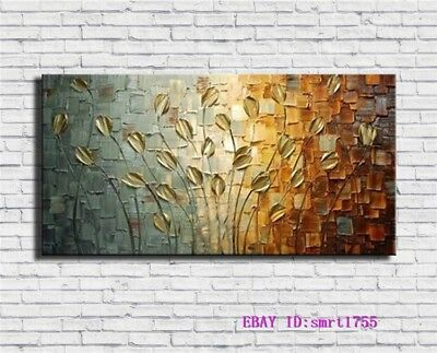 Modern Abstract hand-painted Art Oil Painting Wall Decor canvas 24x48   #25