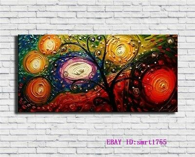Modern Abstract hand-painted Art Oil Painting Wall Decor canvas 24x48   #08