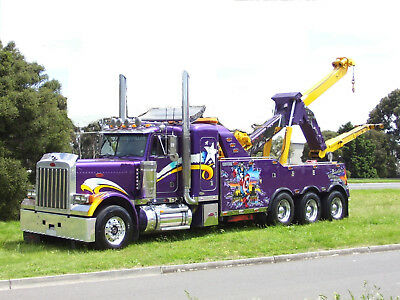 Peterbilt 379 Unique Heavy Tri Axle Under Lift Tow Truck With Cat Motor