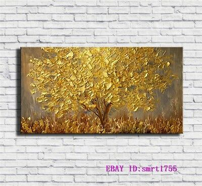 Modern Abstract hand-painted Art Oil Painting Wall Decor canvas 24x48   #12