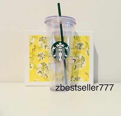 Starbucks Clear Acrylic Cold Cup Tumbler 24 oz Venti LIMITD TIME DEAL
