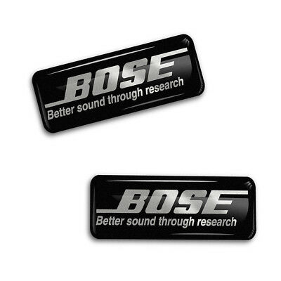 2 Domed Stickers Decals Auto Moto Motorsport Bose Car Audio Speakers CD E 140