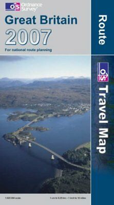Great Britain Route Map 2007 by Ordnance Survey Sheet map, folded Book The Cheap