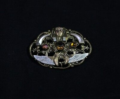 Vintage Art Deco Egyptian Revival Pharaoh Brooch