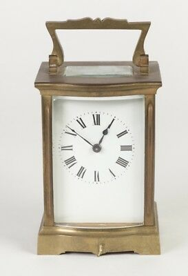 French Carriage Clock 8 day Early Century Morrocan Leather Case !