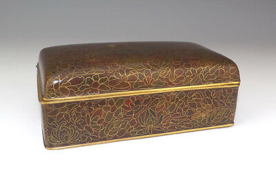 Vintage Chinese Oriental Cloisonne - Thousand Flowers Lidded Box - Lovely!