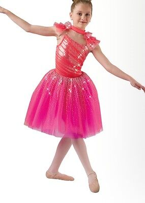 Costume Gallery NWOT coral dance ballet tap tutu pageant recital large (10-12)