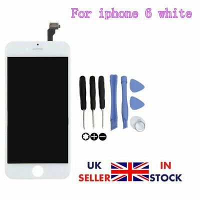 """Replacement Screen  Touch Display Assembly Digitizer White For iPhone 6 4.7"""" LCD"""
