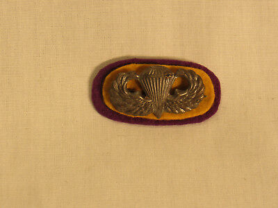 WWII 551 Parachute Infantry Battalion Oval and Jump Wing (Theater Made)