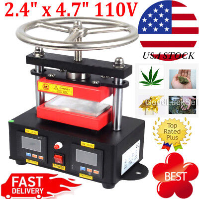 "Professional 2000+ PSI Hand Crank Rosin Press Duel Heated Plates 2.4""X4.7"" 110V"