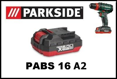 Bateria taladro Parkside 16v Li Battery Drill Screwdriver PABS 16 A2
