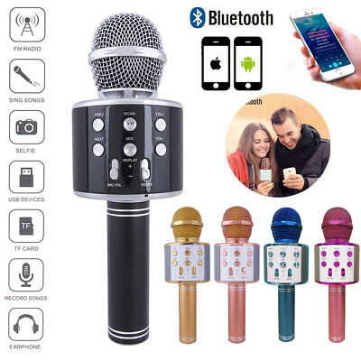Bluetooth Wireless Condenser Karaoke Microphone Mobile Phone Player Speaker Mic