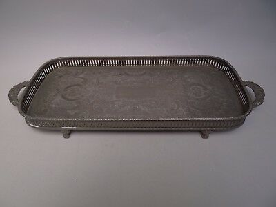 Sheffield Silver Plated Galleried Tray
