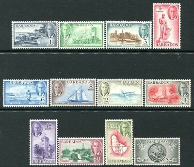 BARBADOS-1950 Set to $2.40  Sg 271-282  UNMOUNTED MINT V23922