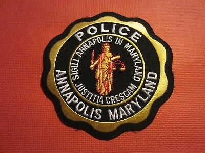 Collectible Maryland Police Patch, Annapolis, New