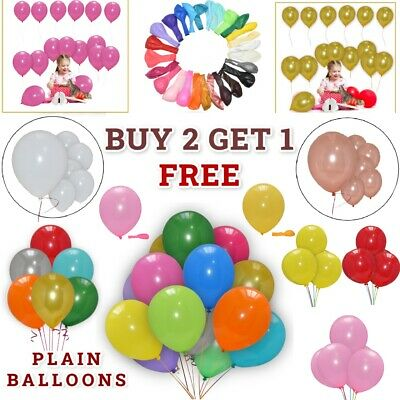"10 x 10"" High Quality Plain BALLOONS Helium/Air Birthday Party Decoration"