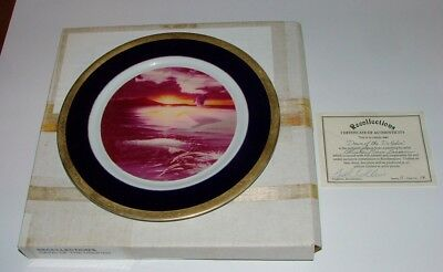 """Christian Riese Lassen Artist Proof Collector Plate """"dawn Of The Dolphin"""" Coa"""
