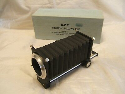 B.P.M. UNIVERSAL BELLOWS UNIT With OLYMPUS OM Mount Rings