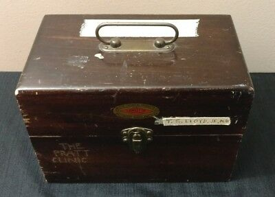 Vintage Lamotte Antique Medical Doctors Wooden Box~Personalized~Incomplete