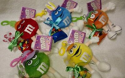 M&M's 2004 Set Of 5 Clip On Easter Plush Characters
